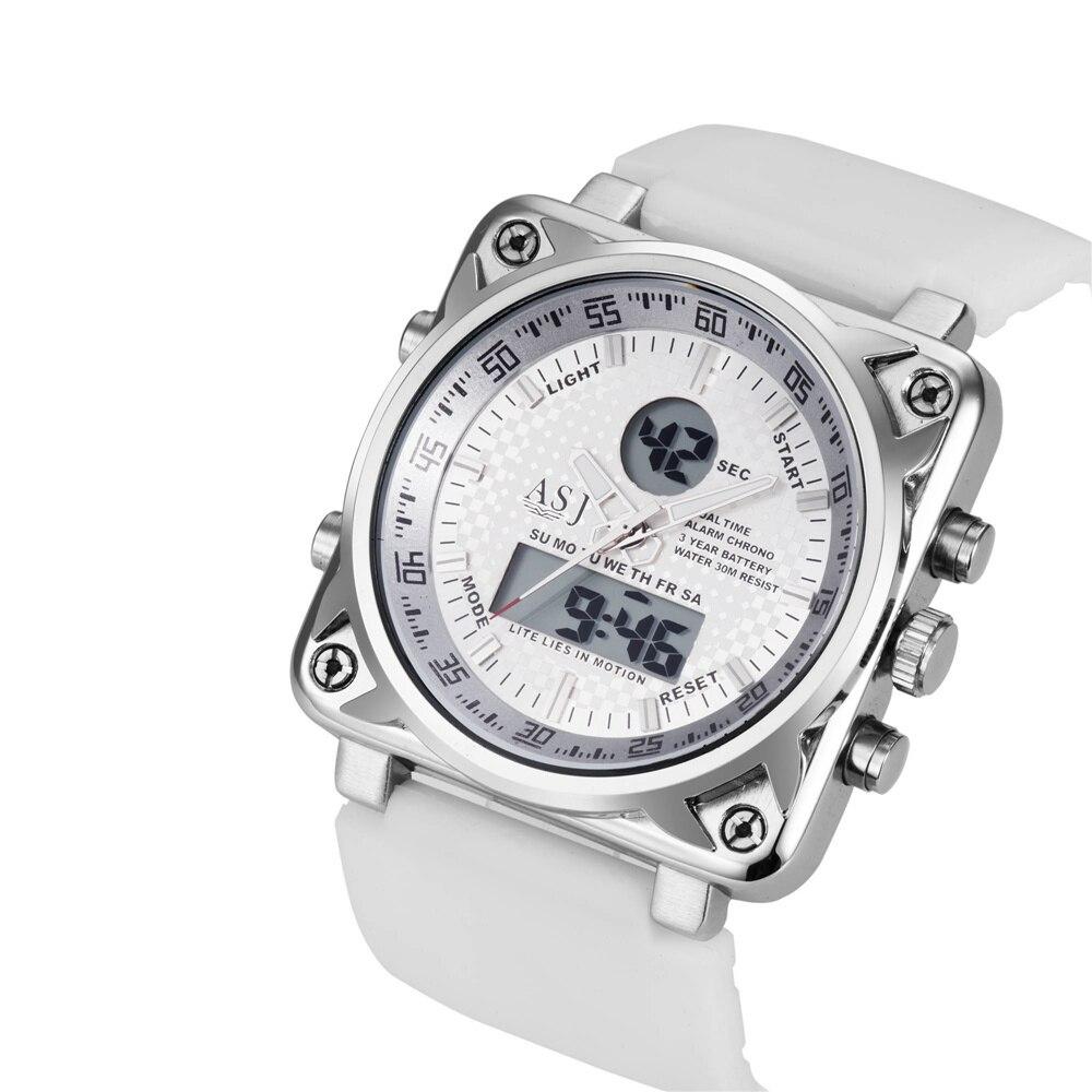 2016 Men Silicone Sport Watches Analog Digital Military Army Watch Japan Movement Chronograph Waterproof Quartz Wrist