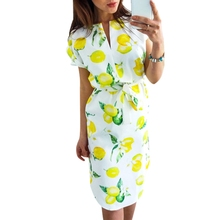 цены KLV Women V Neck Short Sleeve Floral Print Irregular Hem Sexy Dress With Waist Belt