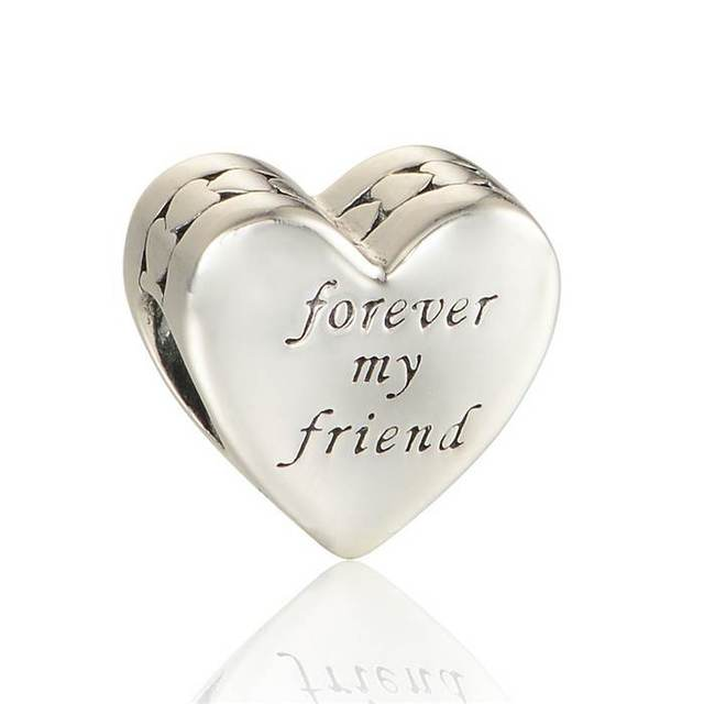213dc80f5 First my mother forever my friend 925 Sterling Silver Jewelry Bead Fits  Pandora Charm Bracelets Woman
