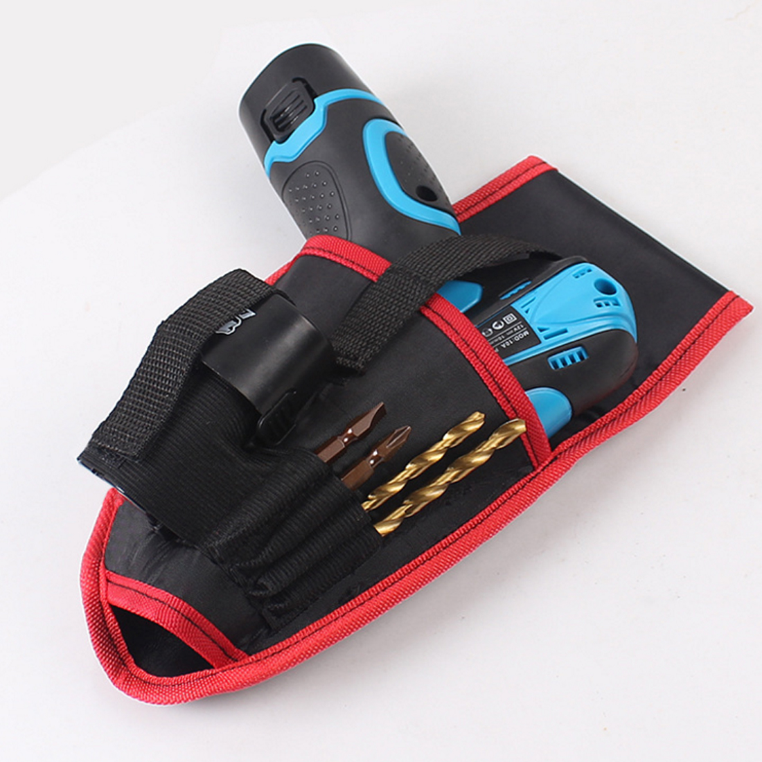Top Portable Drill Holder Tool Pouch For 12V Drill Screwdriver Waist Tool Belt Bag Cordless Tool Oxford