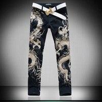 Hot Men S Designers Jeans 3d Dragon Slim Fancy Mens Jeans Pants Men S Gothic