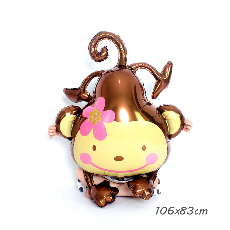 Kammizad Animal monkey Balloons for Jungle Party baloons Safari Party Theme ballons decoration 1st birthday globos accessories in Ballons Accessories from Home Garden