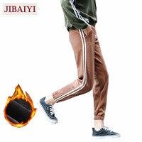 קטיפה חמה באיכות טובה מכנסיים עיבוי מכנסיים מזדמנים מותניים למתוח קרסול ארוך רופף מכנסי הרמון נשי מכנסיים חאקי שחור