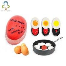 1 шт. яйцо идеальный цвет таймер с изменяющимся Yummy мягкие вареные яйца кухня экологически чистые смолы таймер для яиц красный WYQ