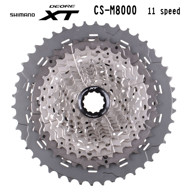 SHIMANO DEORE XT CS-M8000 11S Speed Mountain Bike Bicycle Freewheel Cassette MTB 11S 11-46T цена