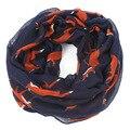 Zorro azul marino infinito bufanda de la gasa suave de peso ligero bufandas mujeres echarpes foulards femme chales y bufandas bufandas mujer 2016