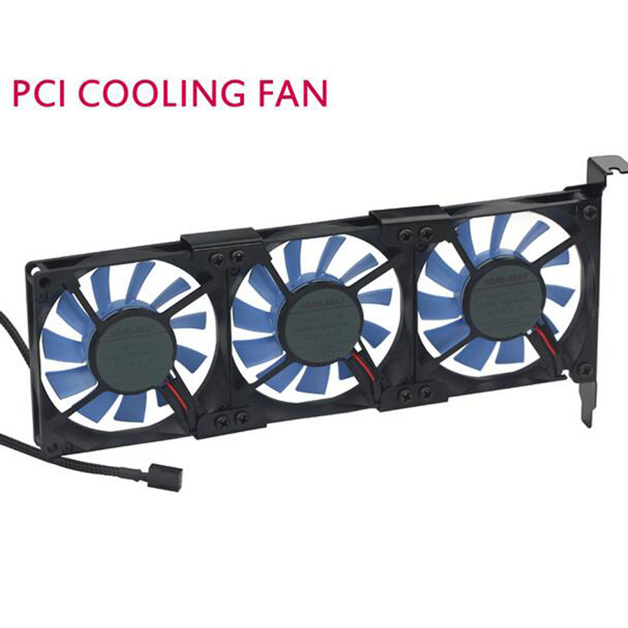 Quieten general graphics card cooling fan ultra-thin pci ebm papst 8015 3 fan PCI Cool Cooling Set free shipping 230v 1a 50hz ebm papst r2e280 ae52 17 variable frequency fan cooling fan