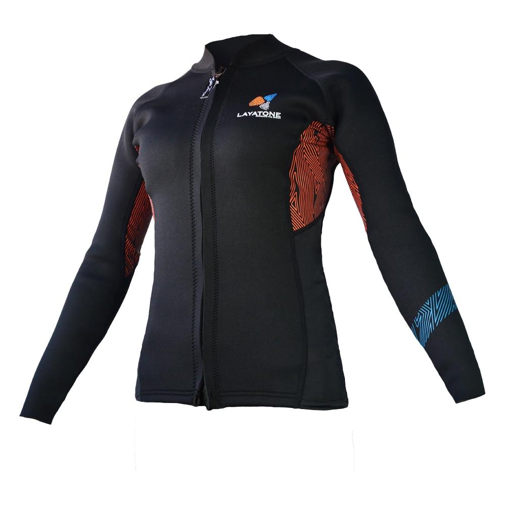 Wetsuit Jacket For Women 3mm Neoprene Long Sleeve Surfing Jacket Rash Guard Women Wetsuit Coat SWSJ1707 цена