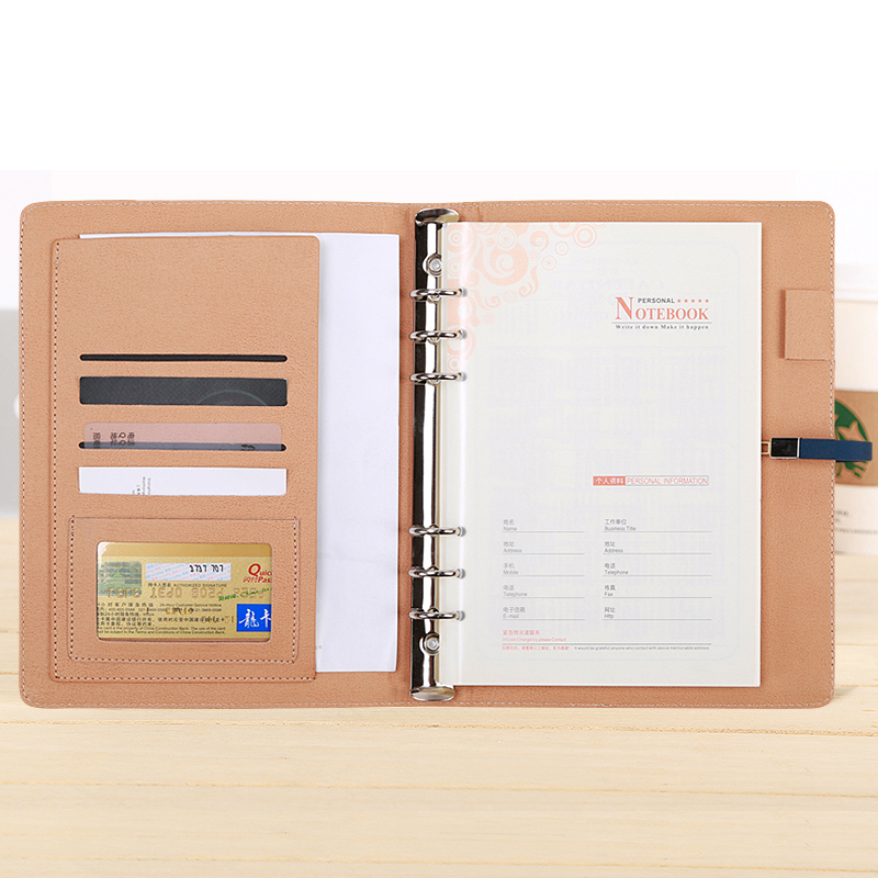 RuiZe high quality A5 spiral notebook leather planner organizer notebook soft cover office stationery business note book купить недорого в Москве