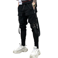 drop shipping Men hiphop harem pants club singer stage costume trousers men cargo joggers streetwear sweatpants AXP221