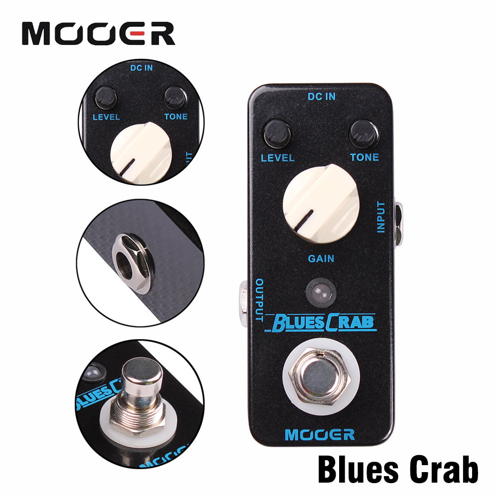 Mooer Single Classic Blues Crab Effects Sound Characteristic True Bypass Overdrive Guitar Effect Pedal салатник 6 шт nikko 8 марта женщинам