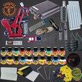 Полные Комплекты Татуировки 20 Цвет Чернила Татуировки Наборы Катушки Пушки Машина Питания Набор Иглы Начинающий Taty Татуаж Поставки