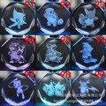 Pocket Monster мультфильм цепочка для ключей Покемон Blastoise Charmander Пикачу светодиодный свет кристалла брелок Подвеска kid Игрушка посылка Llavero - фото