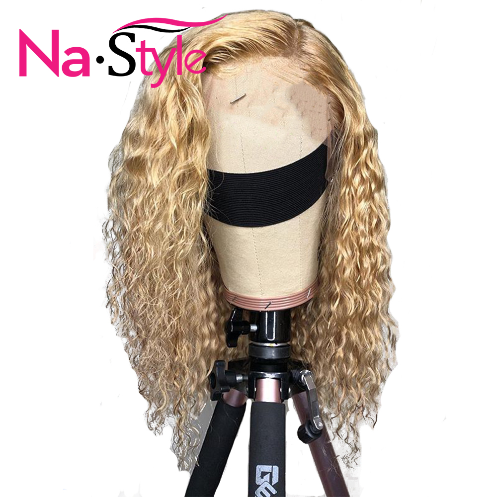 13x6 613 Lace Front Wig For Women Curly Blonde Lace Front Wig Lady Glueless Lace Frontal Wig Pre Plucked With Baby Hair Remy image
