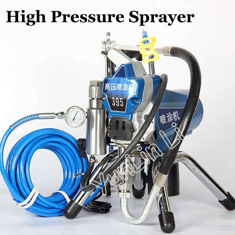 High-pressure Airless Spraying Machine Airless Spray Gun Electric Airless Paint Sprayer 395 Painting Machine Tool