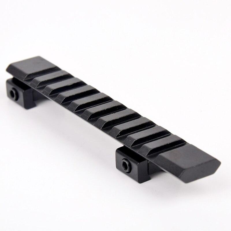 11mm Rail Mount Caza Pistola Picatinny Rail Con 10 Máquinas Tragamonedas Y 124mm