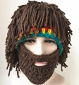 Funny creative handmade cap autumn and winter hat wig bearded men and women hand-knit wool hat for Halloween gifts