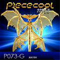 ICONX Piececool 3D Металлические Головоломки Игрушки Для Детей, трон Эльфы Майра Фигура Строительные Комплекты P073-G Головоломки 3D Модель Головоломки Игрушка
