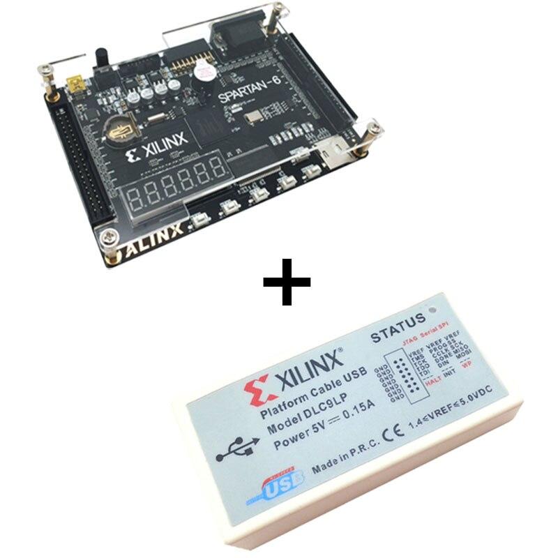 Xilinx spartan 6 FPGA kit de développement FPGA sparan 6 XC6SLX9 carte de développement + plateforme USB câble de téléchargement XL014