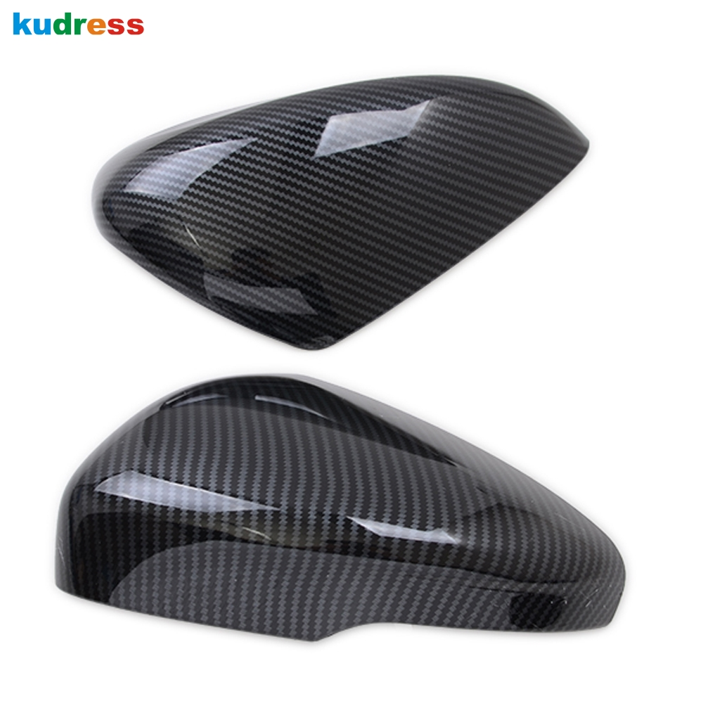For Ford Focus 2019 2020 ABS Chrome Carbon Fiber Side Rearview Mirror Cover Trim Door Rear