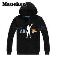 Men Hoodies 84 Antonio Brown Steelers AB 84 Sweatshirts Hooded Thick Lace up for Pittsburgh fans gift Autumn Winter W17100623