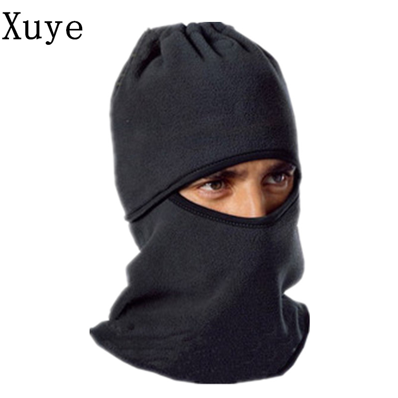 XUYE 3in1 men Beanies Windproof Warm Thermal Fleece Neck Hat cycling Cap Motorcycle Bicycle Scarf Face mask Skullies sahoo 46864 3 in 1 outdoor cycling warm polyester fleece hat face cover for men black xl