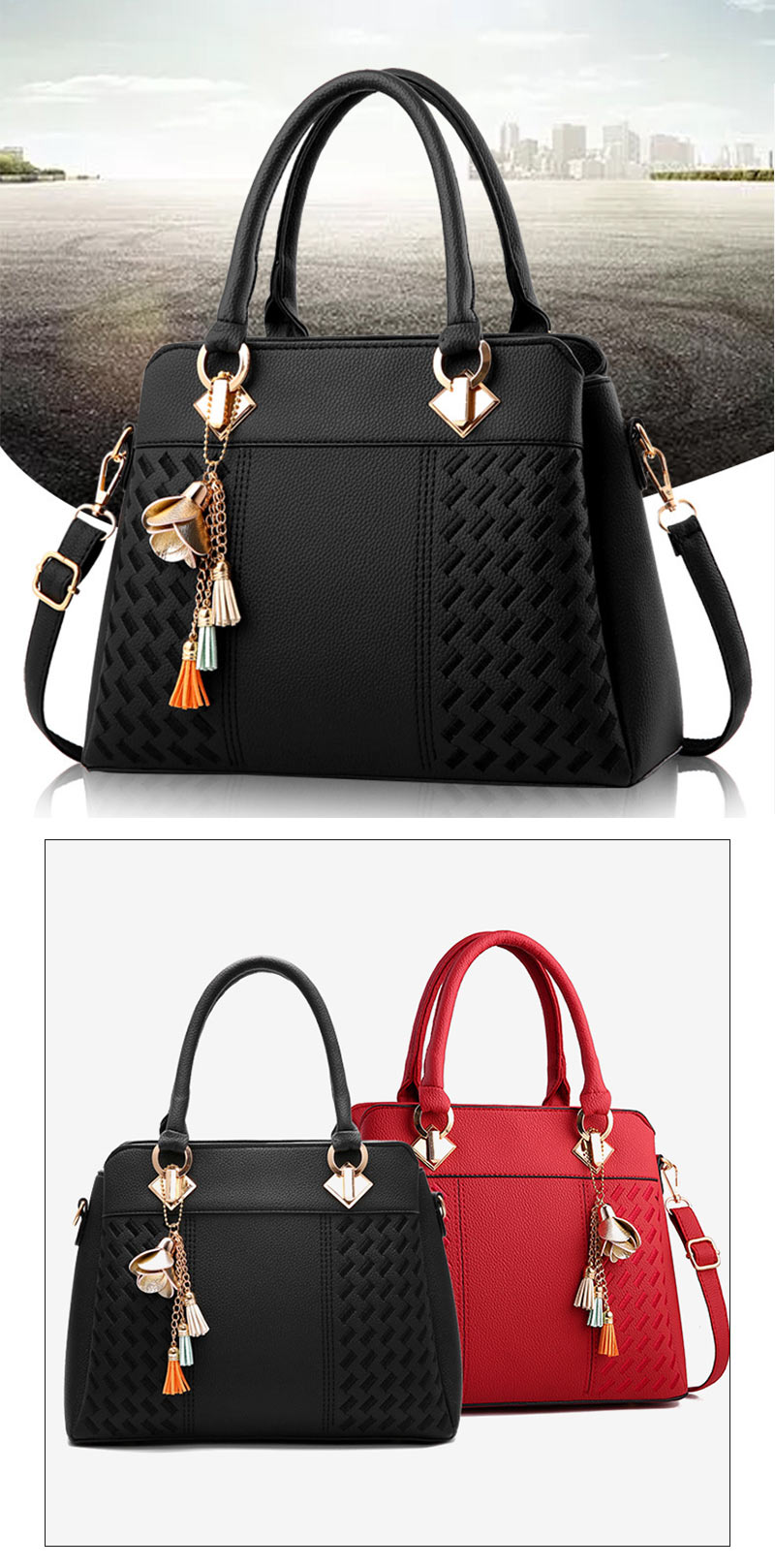 STSR Leather Clutch Bag Female Handbag Luxury Beach Tote Ms. Fringe Shoulder Bag Tote gray one size 10