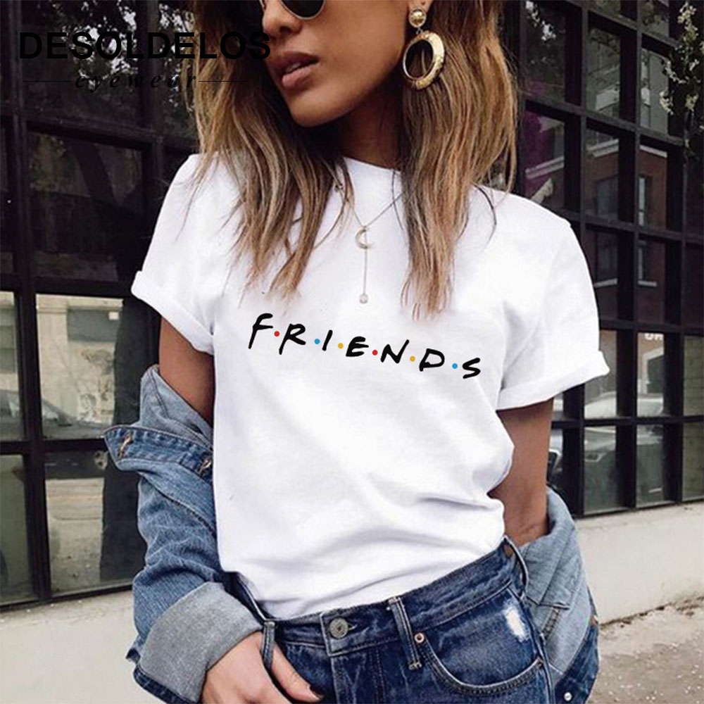 100% <font><b>cotton</b></font> friends tv tee shirt femme <font><b>womens</b></font> shirts <font><b>women</b></font> <font><b>tshirt</b></font> leopard t shirt <font><b>women</b></font> short sleeve tee shirts 2019 new fashion image