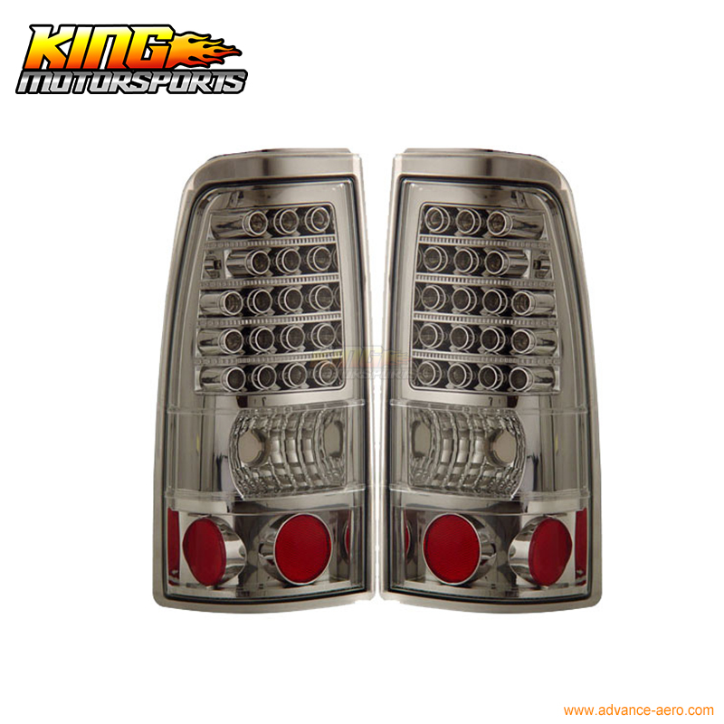 Us 162 99 For 2003 2006 Chevy Silverado Led Tail Lights Chrome Lamps 04 Usa Domestic Free Shipping In Car Light Assembly From Automobiles