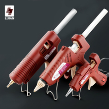 LIJIAN Hot Melt Glue Gun Adjustable Temperature Mini 11mm Professional Copper Nozzle Sticks Pistolet A Colle