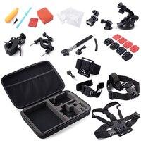 30 All in 1 Professional Sport Camera Accessories Kit Bundle Bag for Gopro HD Hero3+,4 5 6 SJCAM SJ4000 Xiaoyi Eken