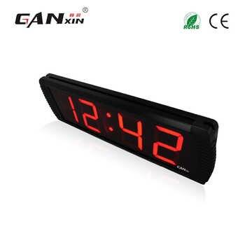[Ganxin]4\'\' Led Digital Alarm Clock Led Wall Clock home decor
