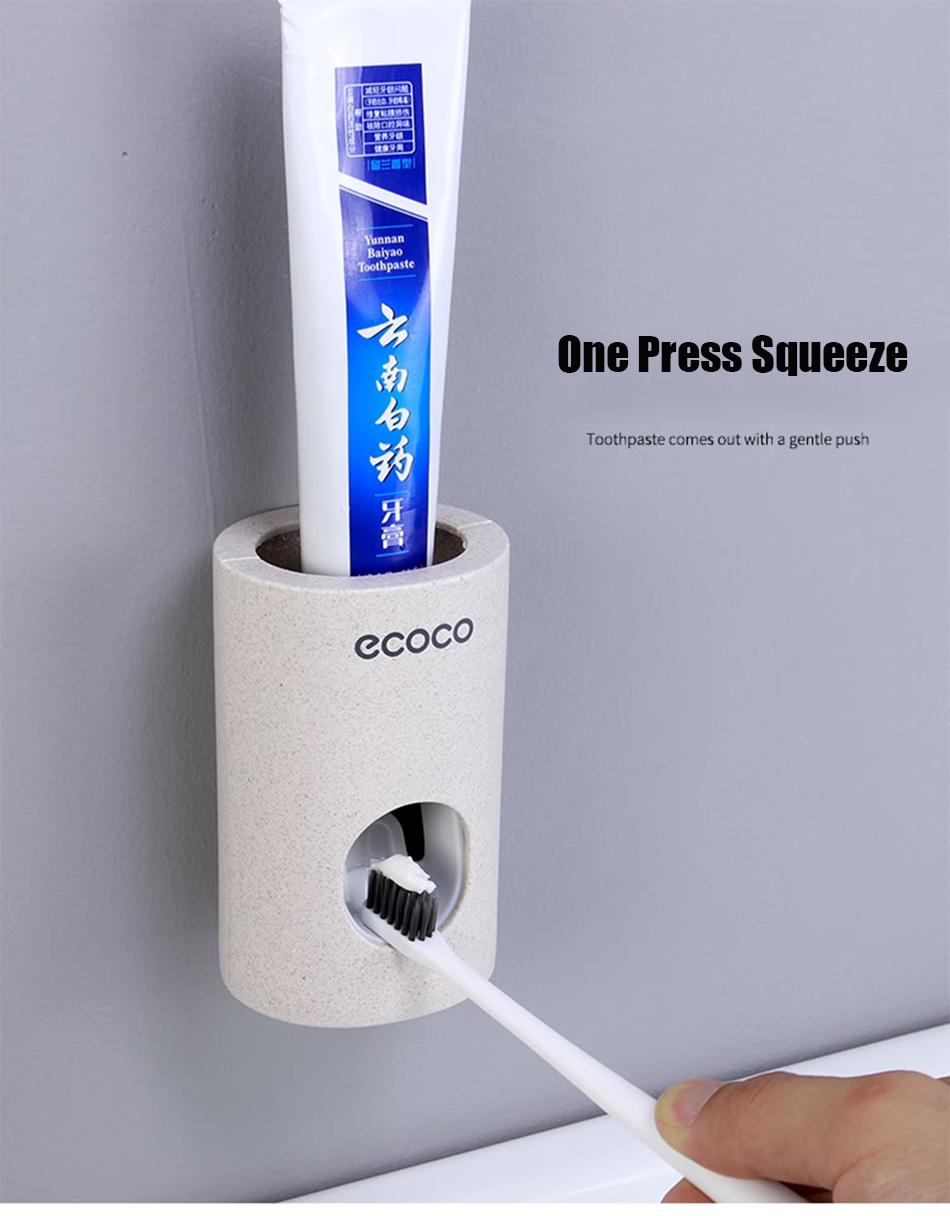 HTB1Huv.eR1D3KVjSZFyq6zuFpXak - BAISPO Automatic Toothpaste Dispenser Toothbrush Holder Wall Mount Stand Bathroom Accessories