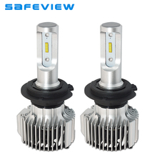 saFEVIEW Car LED H7 H4 headlight bulb Lamp All in One H8 H9 H11 H1 9005 9006 880 881 72W 8000LM Car Drving Auto LED light Bulbs