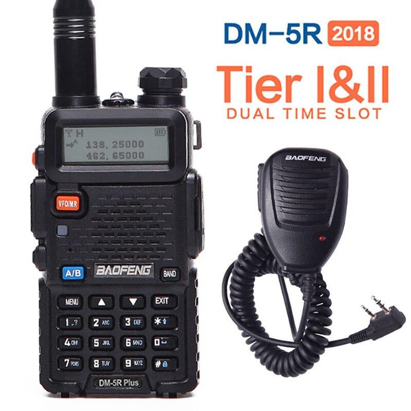 Baofeng DM-5R PLUS. Dual Band Dual Slot di Tempo DMR Digitale Analogico Ripetitore 1024 Canali Compatibile con MOTOTRBO DMR + Altoparlante mic
