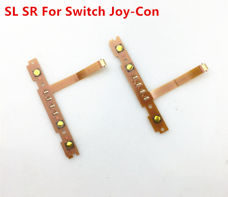 Original Right SR Left SL Switch Button with LED Flex Cable for NS Nintend Switch Joy con Nintendo Switch Controller Ribbon Cabl in Replacement Parts Accessories from Consumer Electronics