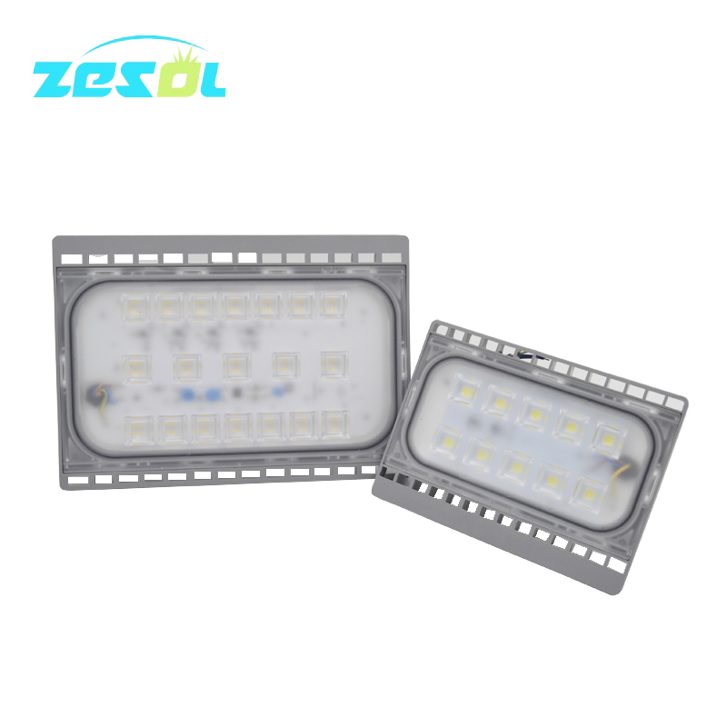 ZESOL a garden lamp 50W 30W LED Flood light 220V outdoor lighted sign IP65 waterproof projector L