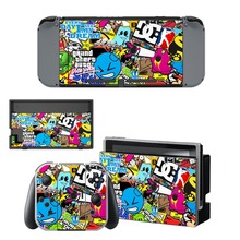 Anime One Piece Luffy Decal Vinyl Skin Sticker for Nintendo Switch NS Console + Joy-Con Controller +Dock Station