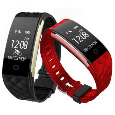 imágenes para NUEVA Banda Inteligente S2 Inteligente Muñequera Heart Rate Fitness Pulsera Smartband reproductor de Mp3 Facebook Twitter Bluetooth Alerta de Llamada SMS