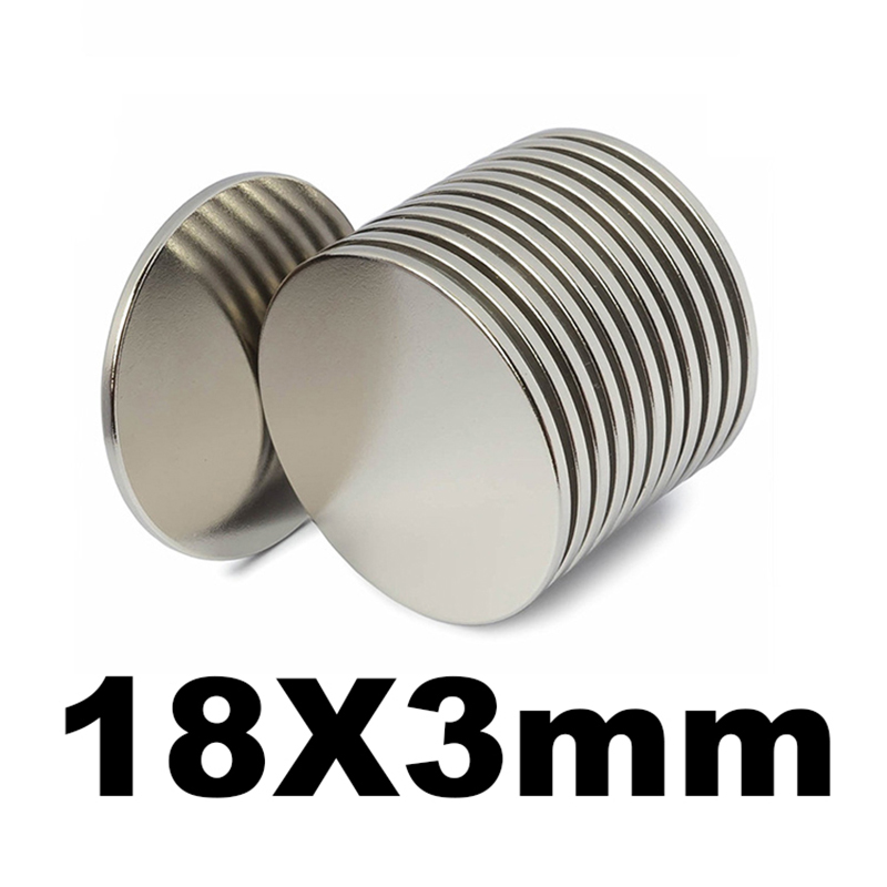 7500 pièces 18mm x 3mm Rond Super Fort Aimants À Disque 18*3 18x3 Aimant de Néodyme de Terre Rare de N35 18mm * 3mm