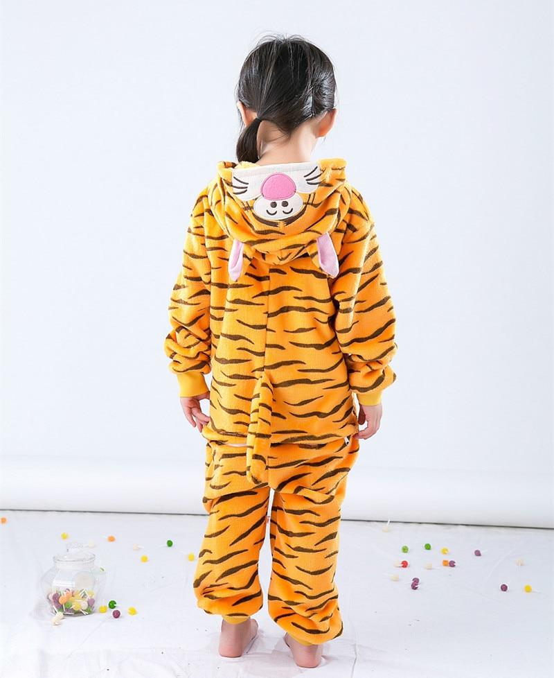 Uşaqlar üçün Tiger Kigurumi Uşaqlar Onesie Pijama Cosplay - Karnaval kostyumlar - Fotoqrafiya 6