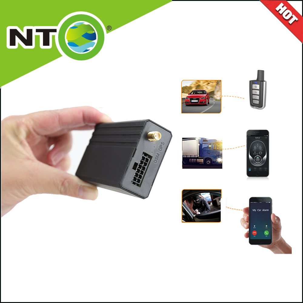 NTG03 free shipping 2pcs car gps truck android locator gprs gsmgps transmitter track lock unlock car door by app remote fuel cut