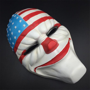 Image 4 - Payday 2 Mask Resin The Heist Dallas/Wolf/Chains/Hoxton cosplay halloween horror clown masquerade cosplay Carnaval Costume men