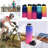 Hot!32oz/40oz Hydro Vacuum Insulated Flask Stainless Steel Water Bottle Wide Mouth with Sport/Straw/Flex cap