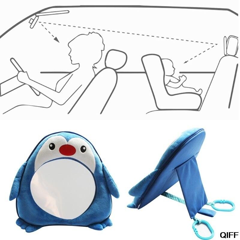 Прямая поставка и милых пингвинов, Детские зеркала заднего вида, безопасное автомобильное заднее сиденье, легкое зеркало для детей, малышей, May06