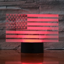 Usb 3d Led Night Light American flag Atmosphere Lamp Decoration RGB Kids Baby Gift the Stars and the Stripes Table Lamp Bedside india taj mahal usb 3d led night light veilleuse lamp decoration rgb kids baby gift famous buildings table lamp bedside neon