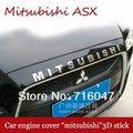 """Freeshipping Mitsubishi ASX RVR Motor Campanas """"Mitsubishi"""" 3D stick accesorios del coche para Mitsubishi Lancer"""