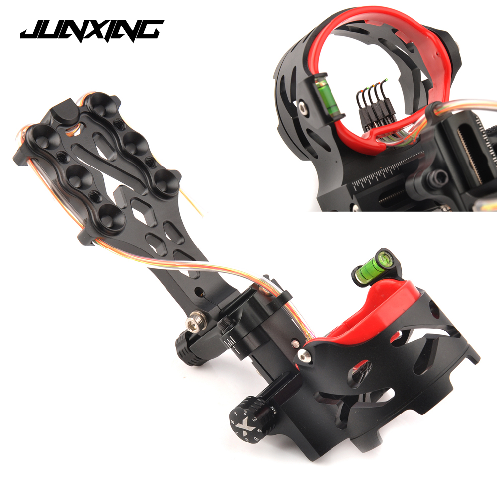 High Quality Compound Bow Sight 5 Pin with Sight Light Adjustable Sight Green Bubble Level for Archery Hunting Shooting new arrival sight adjust tool for 7 62 sks design best quality front sight tool for hunting shooting