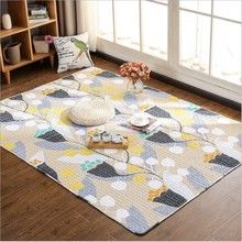 Summer Japanese Style Cotton Carpet Living Room Sofa Bedroom Soft Rug Window Cushion Thin Tatami Mat