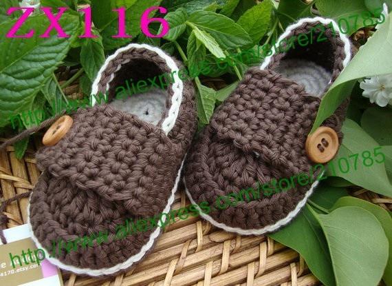 10 par / lot Baby hæklet sko spædbarn sneboots børn søde håndlavede 0-12M mix farver brugerdefinerede Gratis forsendelse